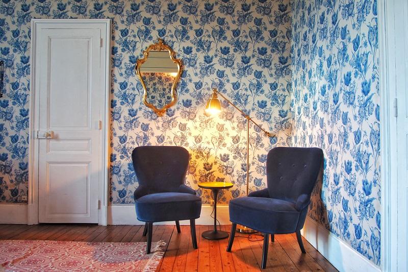 manoir sologne chambre bleue