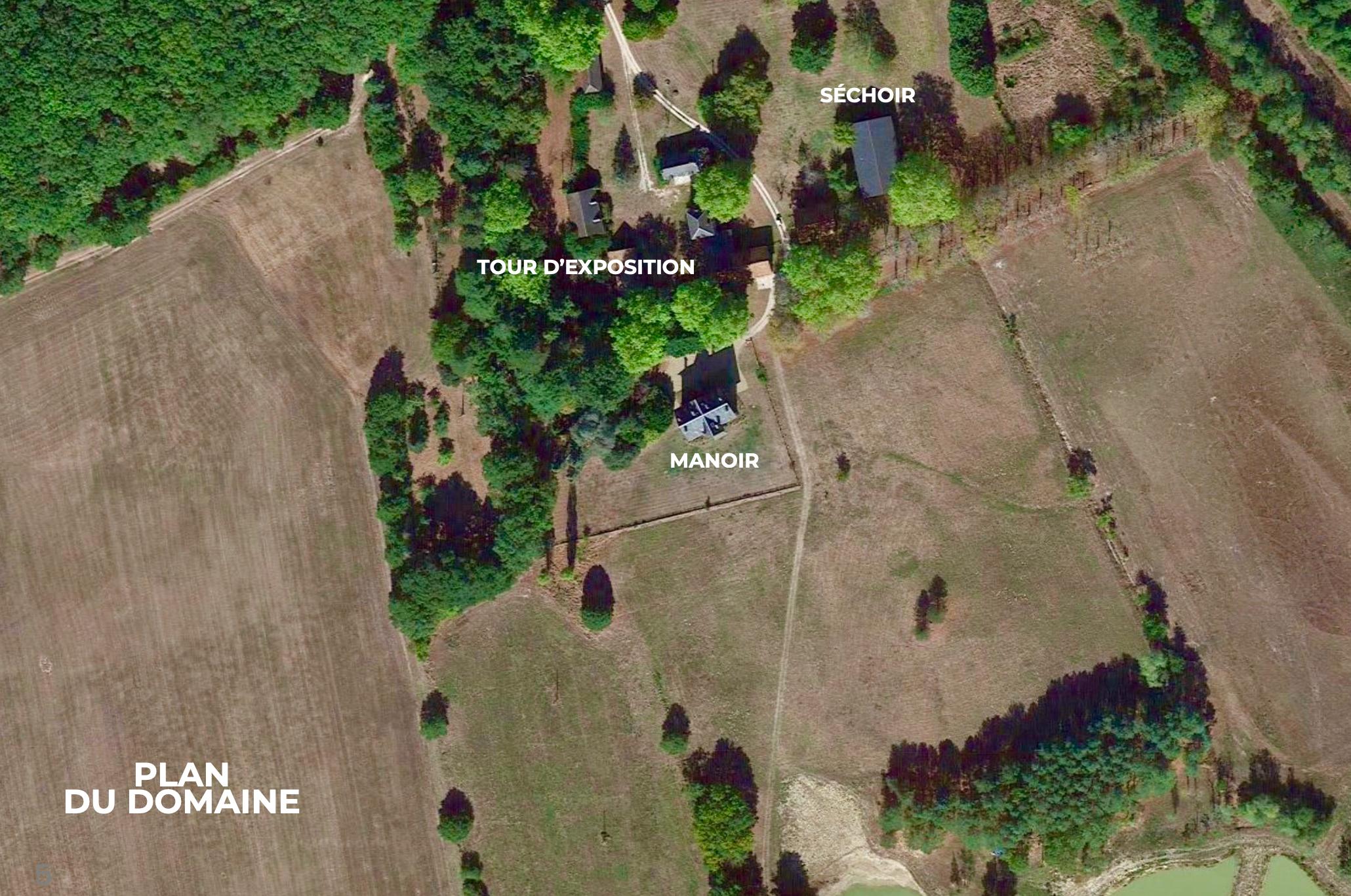 plan des lieux de La blondellerie pour accueillir des événements privées et professionnels